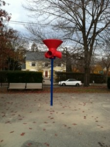 Funnel Ball playground equipment game like basketball Newton ILoveNewton Peirce Elementary School