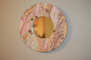glass mosaic mirrors, custom mosaics, mosaics by ariel, needham