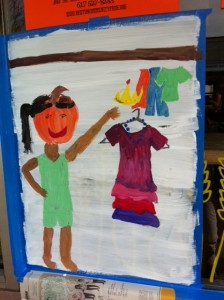 Newton street art, Halloween Window Painting, Newtonville Window Painting, Halloween paintings by kids