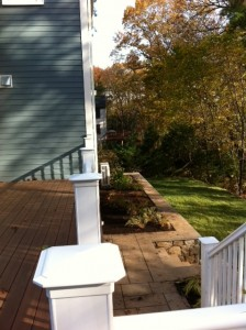 deck, back yard, 82 Day Street,