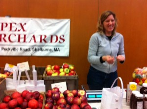 apples, newton farmers market