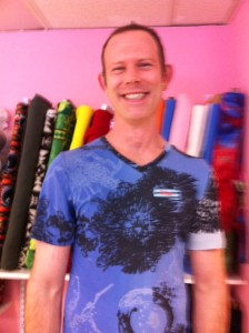 Brian Remlinger, owner Newton Sewing Studio, Newton MA