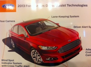 Ford Fusion driver's alert system