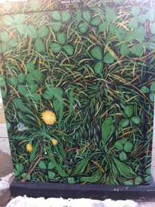 Boston Box Art, street art, clover street art, 4 leaf clover street art
