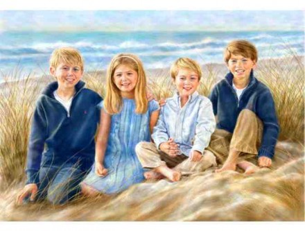 $300 Off a Luxury Hand Painted Portrait by Nomi Wagner