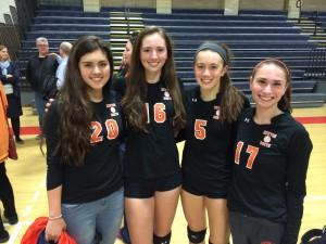 Newton North High School women's volleyball captains 2014