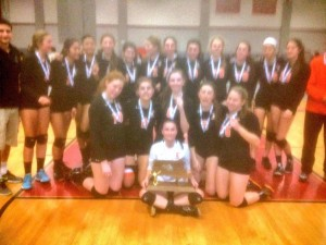 NNHS Women's Volleyball state champs trophy