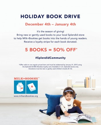 Splendid® Holiday Book Drive for Milk + Bookies