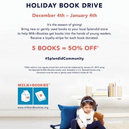 Splendid® Holiday Book Drive for Milk + Bookies