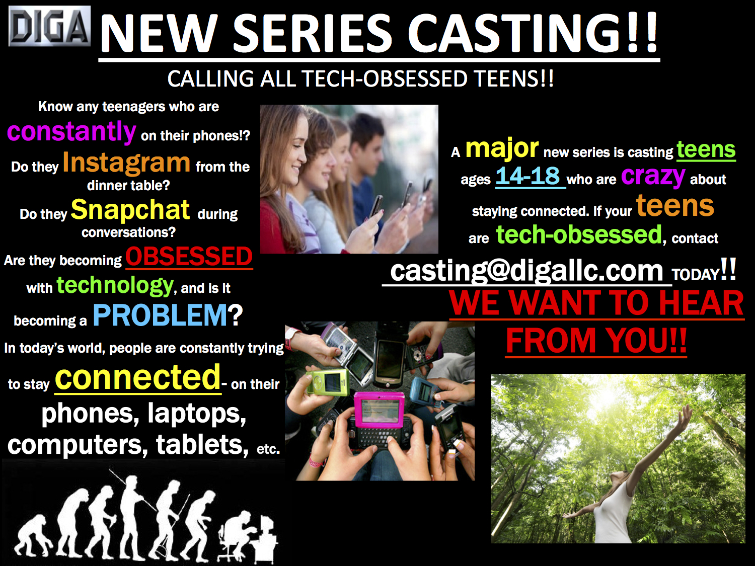 Casting Call for All Tech-Obessessed Teens