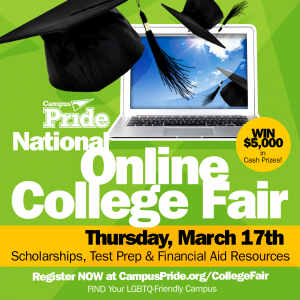 #LGBTQCollege411 National Online College Fair