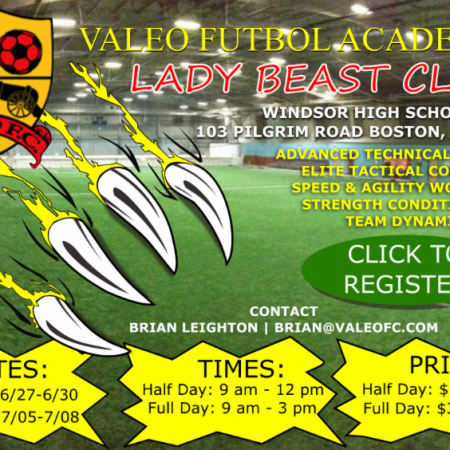 Valeo FC Summer Lady Beast Clinic - Girls Only!