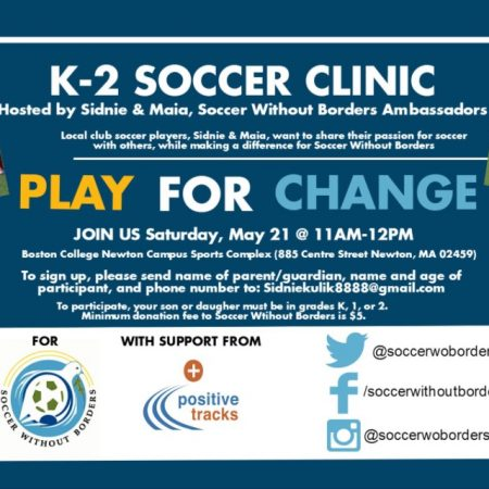 soccer without borders soccer clinic