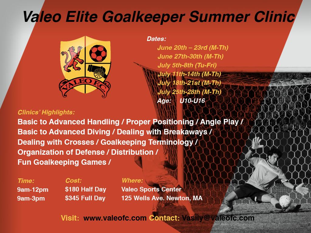 Valeo Elite Goalkeeper Summer Clinic