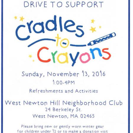 Cradles to Crayon Donation Drop Off