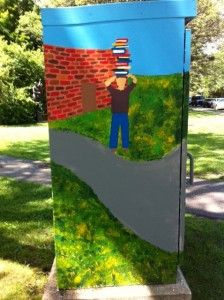 Newton Library Box Art, Newton Free Library, Newton BoxART, BoxArt Project, Newton, MA