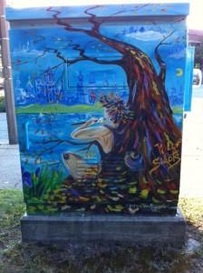 Newton Boxart, art box, street art