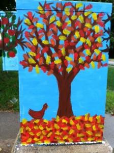 four season street art, four seasons, Chestnut BoxArt, Newton