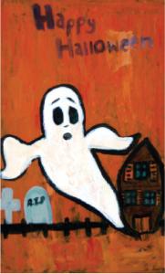 Newton window painting for Halloween, window painting for kids, halloween window painting Newton