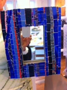 mosaic mirror, custom mosaics by ariele