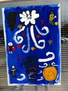 Newton, Newtonville, Halloween Window Painting, Kids window painting,
