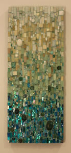 custom mosaic kitchen backsplash, custom mosaics, mosaic artist