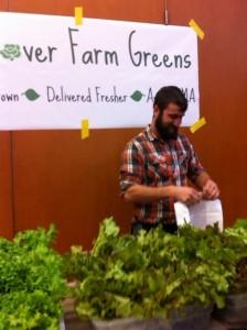 hydroponic salad greens Newton Highlands farmer's market