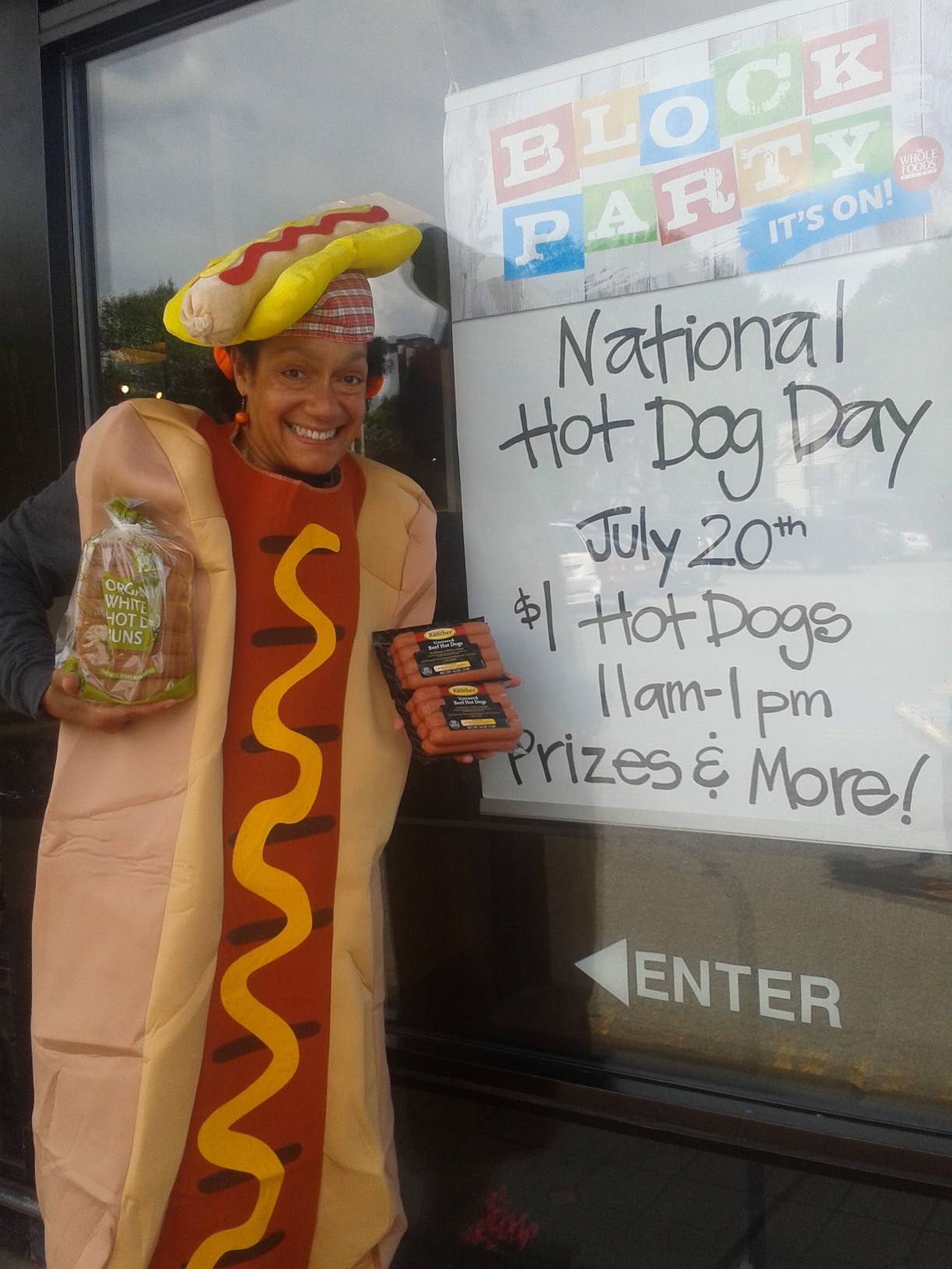 Hot Dog Throwdown Whole Foods Newton, National Hot Dog Day