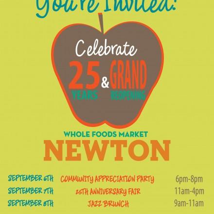 Whole Foods Newton 25th Celebration