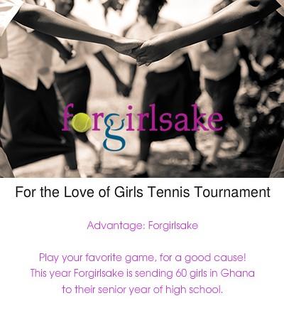 Forgirlsake Women's Doubles Tennis Fundraiser