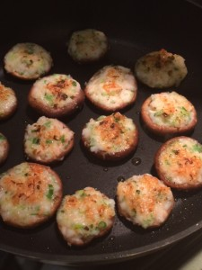 shrimp stuffed shitake mushroom caps, Ayako Samuels, The Sweet Kitchen, Newton cooking classes, Japanese home cooking classes Newton MA