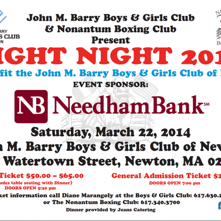 Boys and Girls Club Fight Night, Nonatum Boxing Club