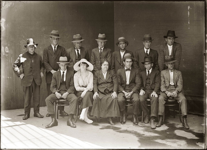 group shot of criminals from 1920s