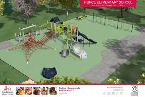 Peirce Elementary School Newton new playground