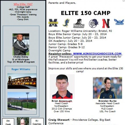 Elite 150 Boys Soccer Sleepaway