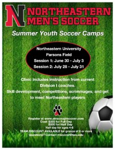 Northeaster soccer camps for kids