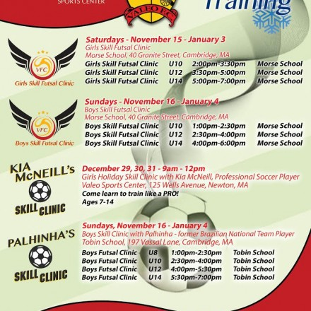 FC Valeo Winter soccer training Newton MA