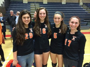Newton North High School women's volleyball captains 2014