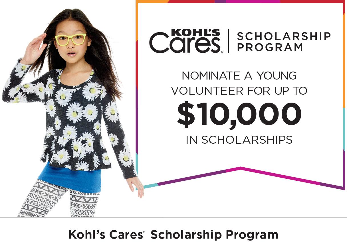 Kohl's Young Volunteer Scholarship Program