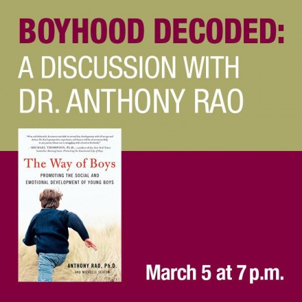 FREE Lecture by Dr. Anthony Rao on Parenting Boys