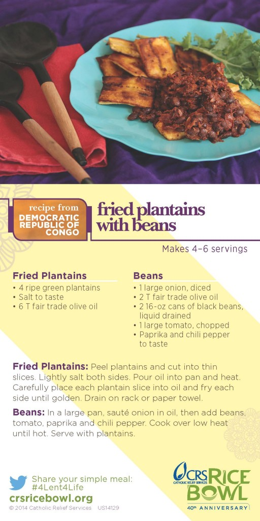 Fried Plantains and Beans