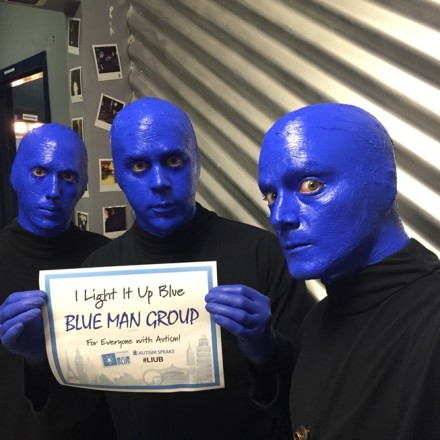 Blue Man Group Partners with Autism Speaks