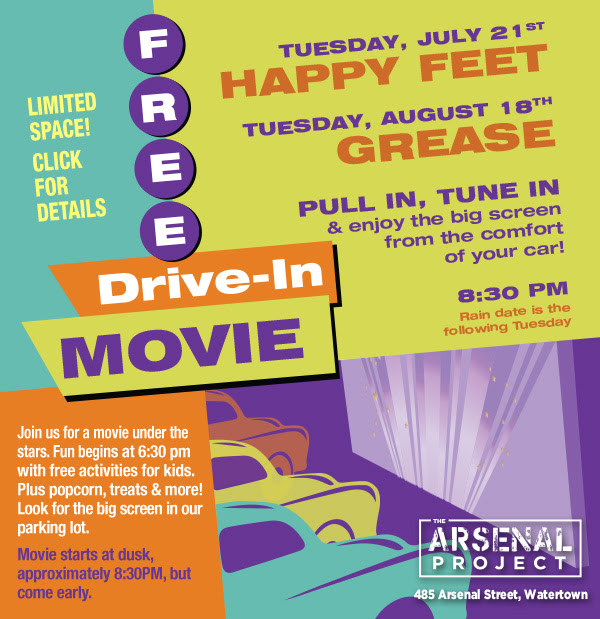 FREE Drive In Movie at Arsenal Project
