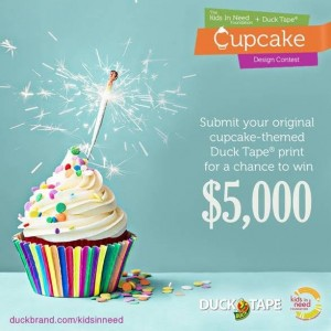 Win $5000 from Duck Tape for Cupcake Design