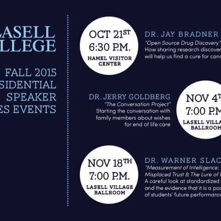 free speaker series at Lasell college