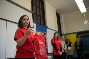 Staples and City Year help school in Jamaica Plain