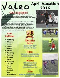 Valeo April Vacation Soccer Clinic