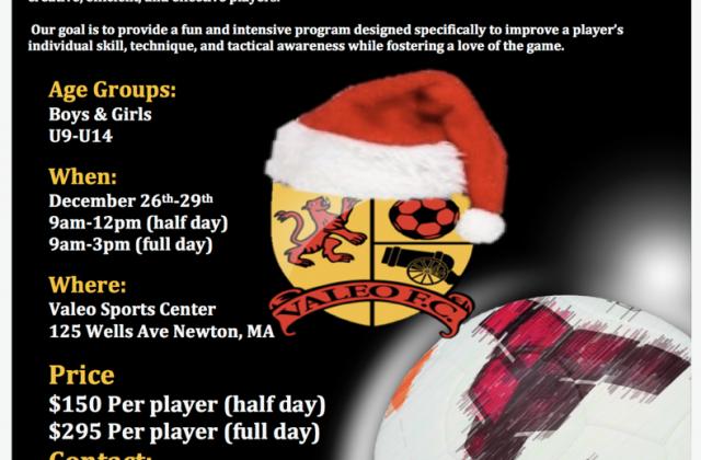 Valeo FC Winter Holiday Clinic