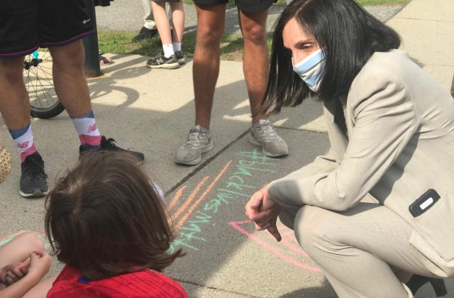 Mayor Ruthanne Fuller at Newton George Floyd Protest